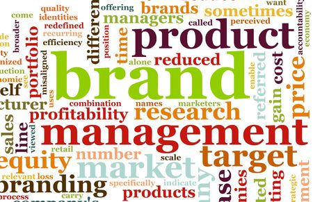 demographic: Branding del mercato del prodotto Word Cloud Background