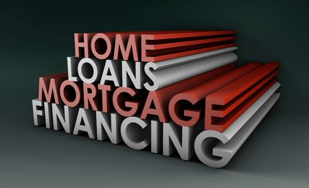 house exchange: Home Loans Mortgage Financing Concept in 3d