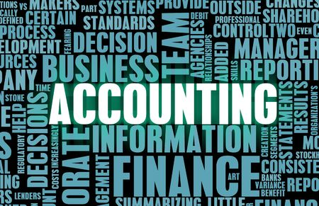 Accounting and Finance Law Concept as a Art photo