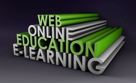 digital learning: Online Education or Distance Learning in 3d