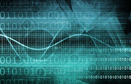 Sicherheit in der Informationstechnik Daten als Concept Abstract Standard-Bild