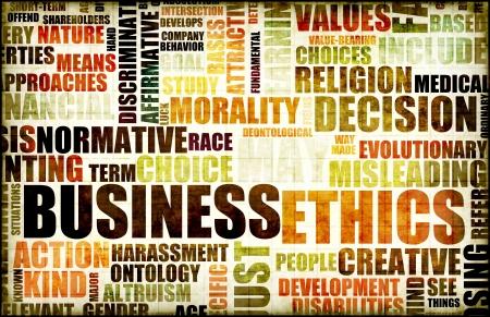 integrit�: Etica di affari nel lavoro sul livello Office
