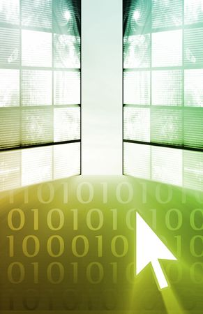 Business Commerce as a Tech Abstract Background photo