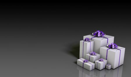 copyspace corporate: Business or Corporate Gifts Background in 3d