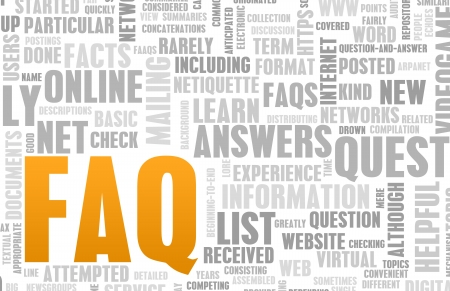 FAQ or Frequently Asked Questions Online Art photo