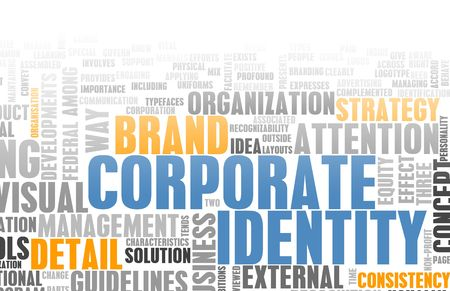 terminology: Corporate Identity in the Marketing World Art Stock Photo