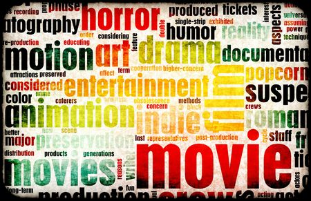 Movie Poster of Film Genres Vintage Background Stock Photo - 5803926