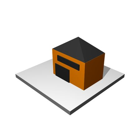 manufacturer: Manufacturer Building Icon on a White Background Stock Photo