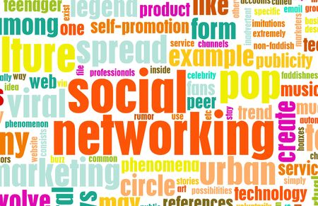 staying in shape: Social Networking Site Online Concept On Internet Stock Photo