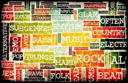 Music Background With Different Genres and Types photo