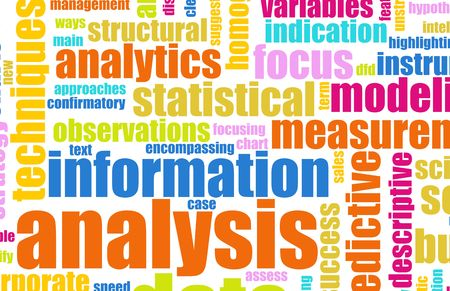 Information Analysis Process Concept as a Art photo