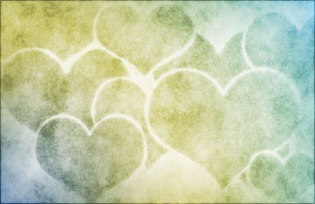 in loving memory: Grunge Hearts Background
