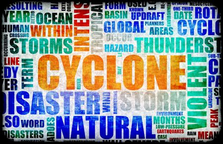 disaster recovery: Cyclone Natural Disaster as a Art Background