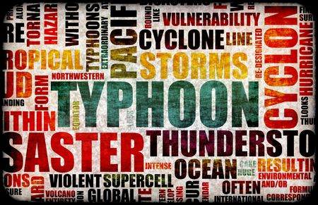 act of god: Typhoon Natural Disaster as a Art Background