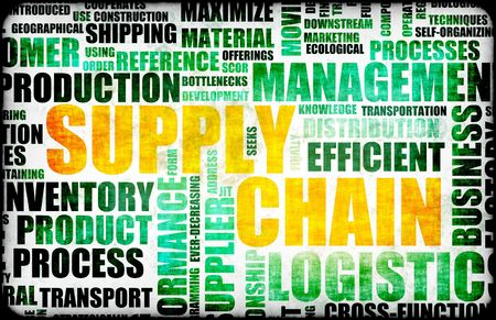 Supply Chain Management Background as Design Art photo