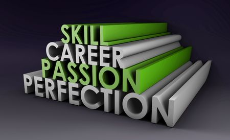 Business Skills For Passion and Career in 3d Stock Photo - 5890049