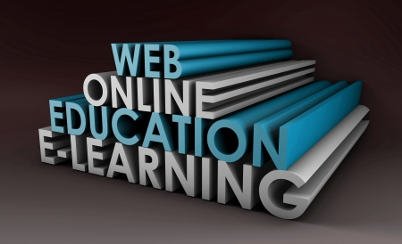 virtual classroom: Online Education or Distance Learning in 3d