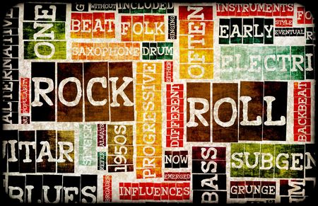 Rock and Roll Music Poster Art as Background Stock Photo - 5890103