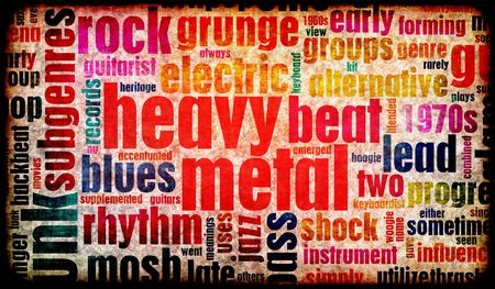 heavy metal music: Heavy Metal Music Poster Art as a Background