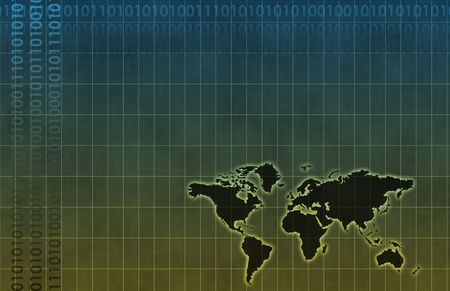 Global Business System Data as Background Wallpaper Stock Photo - 5896781