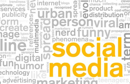 Social Media Concept as a Abstract Background Stock Photo - 5896800