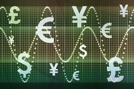 Futuristic World Currencies Business Abstract Background Wallpaper Stock Photo - 5898013
