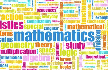 matematica: Estudios de matem�ticas como un fondo de Math Abstract