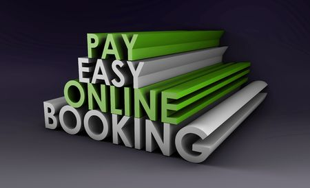 epayment: Online Booking System in a 3d Illustration