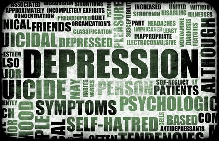 major depression: Severe Depression Medical Mental State Background
