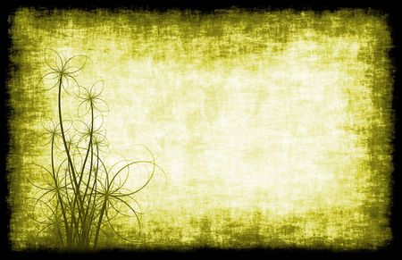 A Grunge Parchment Floral as Abstract Background photo