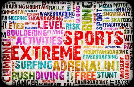 Extreme Sports Grunge Background as a Art photo