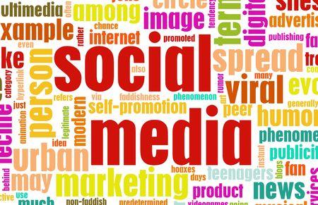 Social Media Concept as a Abstract Background photo
