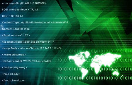 Global Multimedia Technology in Green Data  Art photo