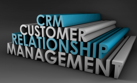 Customer Relationship Management CRM in 3d Art photo