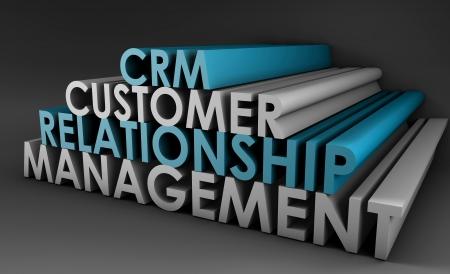 relations: Customer Relationship Management CRM in 3d Art