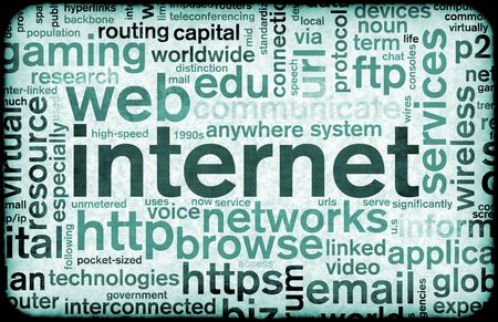 Internet Web Abstract on a Digital Background Stock Photo - 6078997
