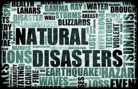 Natural Disasters Grunge as a Art Background Stock Photo - 6079004