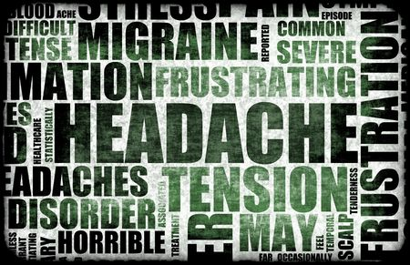 splitting headache: Severe Headache Medical Condition as a Background Stock Photo