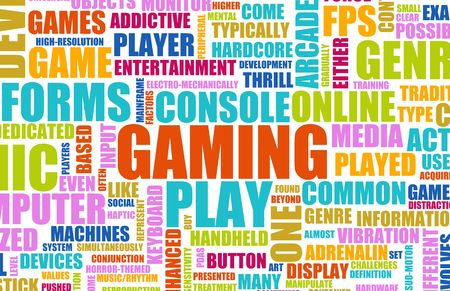 addicted: Gaming Entertainment on Console Concept as Art Stock Photo