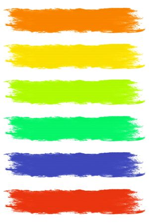 Paint Brush Strokes in Assorted Pastel Colors photo