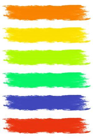 pastel colours: Trazos de pincel de pintura en el surtido de colores pastel  Foto de archivo