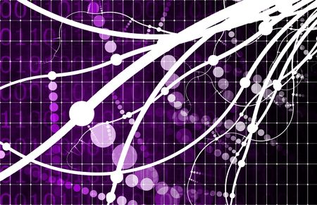 overload: Purple Media Overload with a Multimedia Abstract Stock Photo