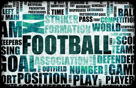 footie: Football Soccer Grunge as Abstract Background Art Stock Photo