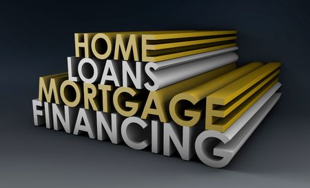 refinancing: Home Loans Mortgage Financing Concept in 3d