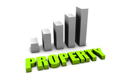 Green Property Value in 3d with Bar Chart photo
