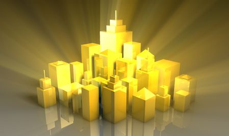 Brand New Shiny and Clean City Lifestyle 3d photo