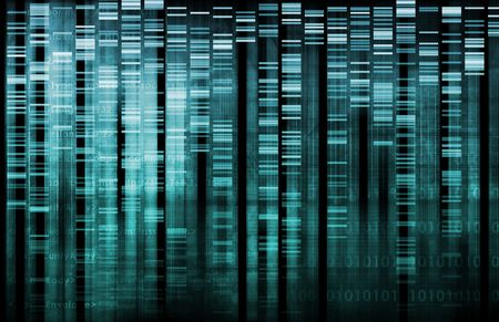genome: DNA Research of Science Genetic Data Background Stock Photo