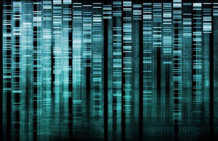 genetica: Ricerca di DNA di scienza sfondo dati genetici Archivio Fotografico