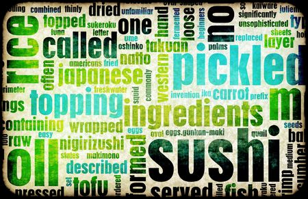 Sushi Menu Background for Japanese Food Meal photo