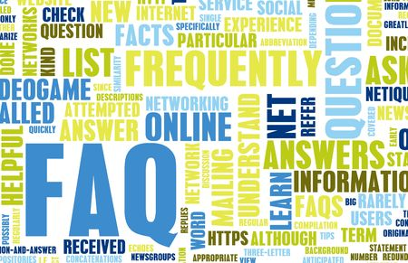 frequently asked questions: FAQ or Frequently Asked Questions Online Art